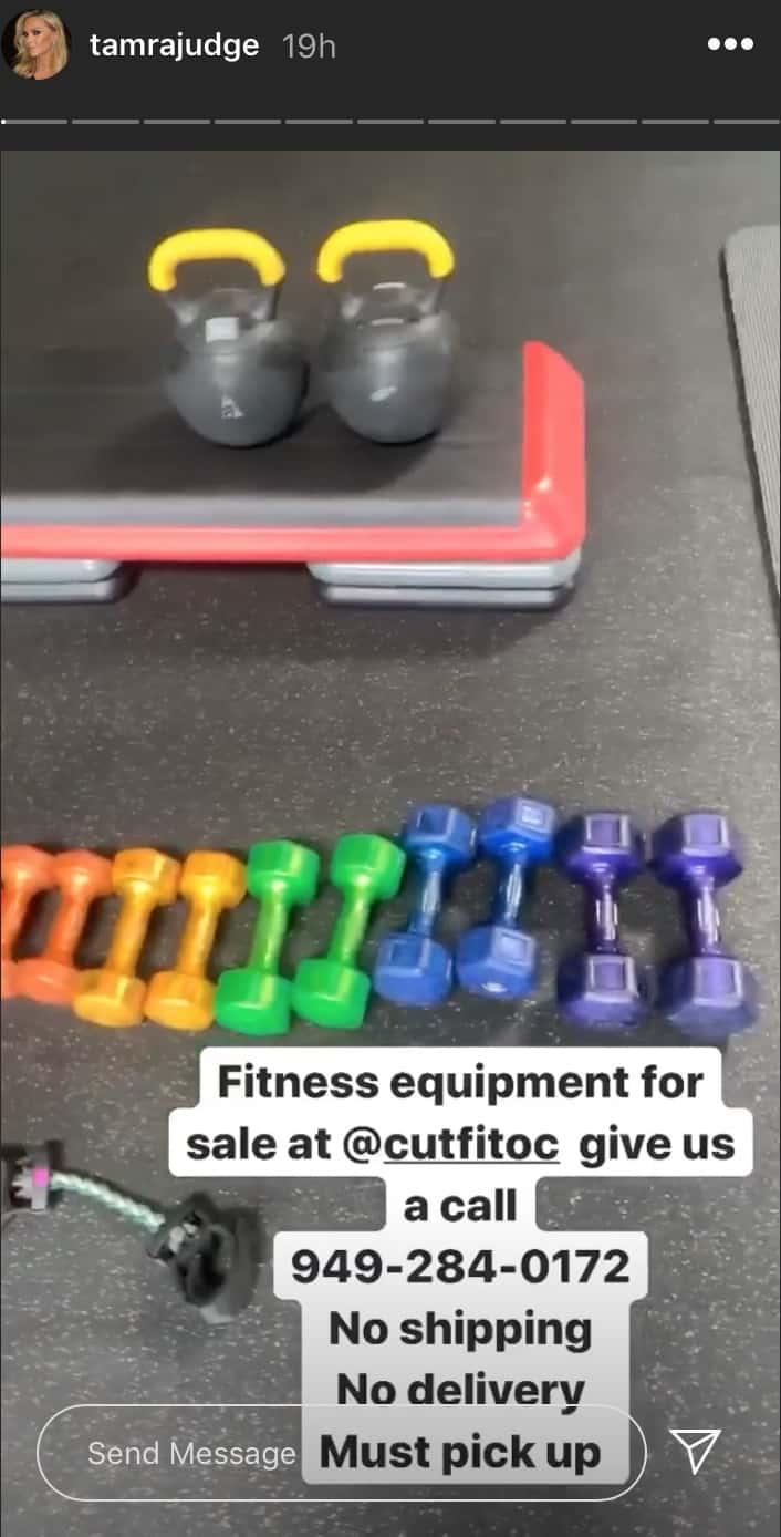 RHOC Tamra Judge Sells Off CUT Fitness Equipment