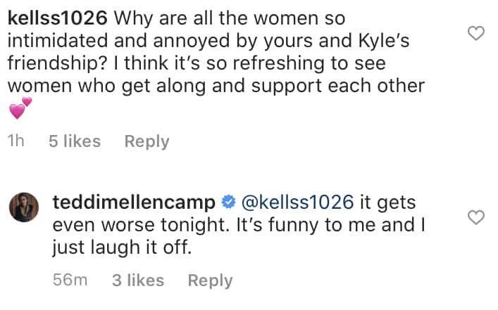 RHOBH Teddi Mellencamp Laughs Off Drama Surrounding Kyle Richards Friendship