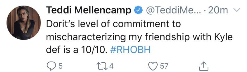 RHOBH Teddi Mellencamp Slams Dorit Kemsley for Mischaracterizing Kyle Richards Friendship
