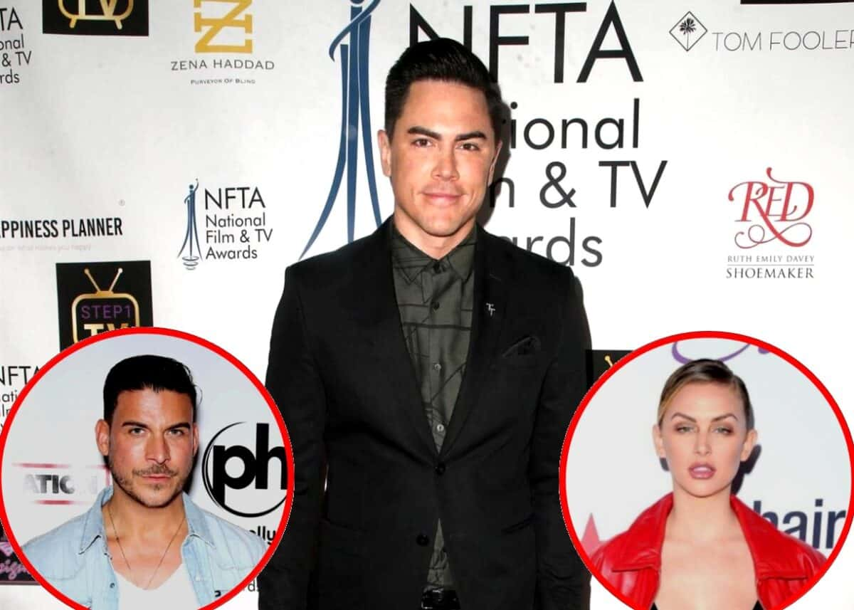 "Vanderpump Rules' Tom Sandoval Dishes on ""Emotional"" Reunion, Slams Jax Taylor as ""Compulsive"" and Suggests Jax Has an ""Obsession"" With Him, Plus React to Lala Kent Saying He's Not Her ""Cup of Tea"""