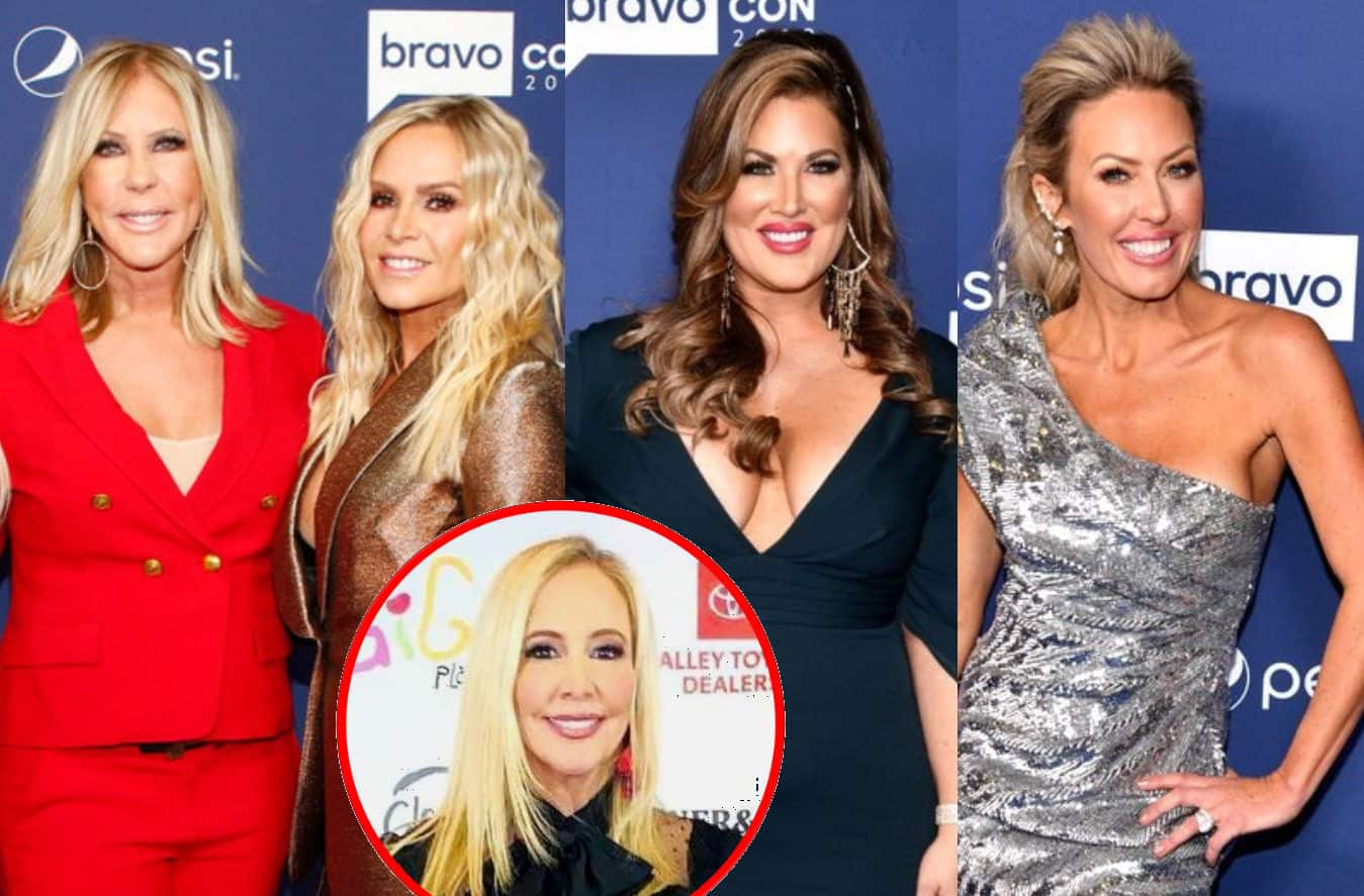 "Vicki Gunvalson and Tamra Judge Throw Shade at Emily Simpson and ""Brown-Wind,"" Accuse Them of Plotting to Get on RHOC, Plus They Claim Shannon Lost Their Phone Numbers"