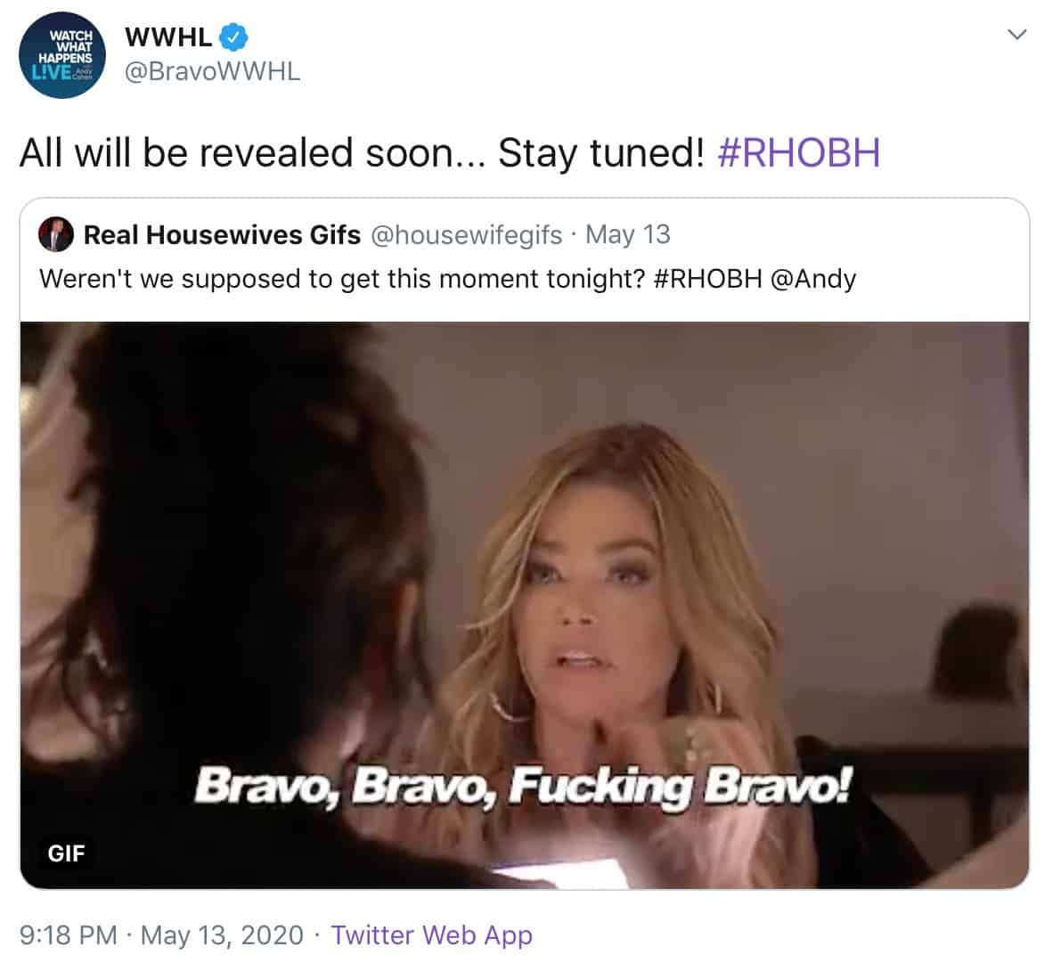 WWHL Teases Bravo Bravo Moment Coming Soon