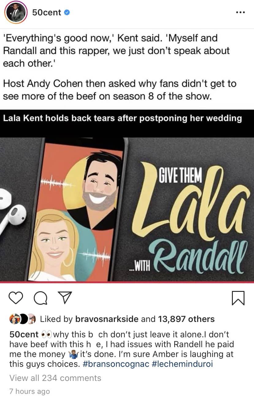 50 Cent Reacts to Lala Kent's Vanderpump Rules Reunion Comments