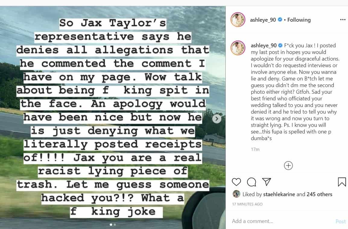 90 Day Fiancé Ashley Martson Claims Jax Taylor's Rep is Denying His Comments, Despite Her Proof