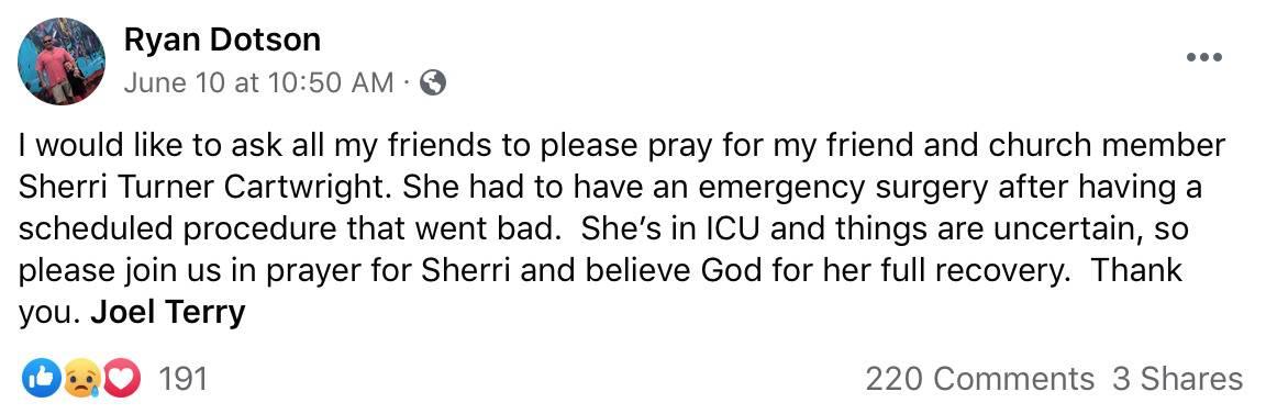 Vanderpump Rules Brittany Cartwright's Pastor Ryan Dotson Reveals Her Mom is in ICU