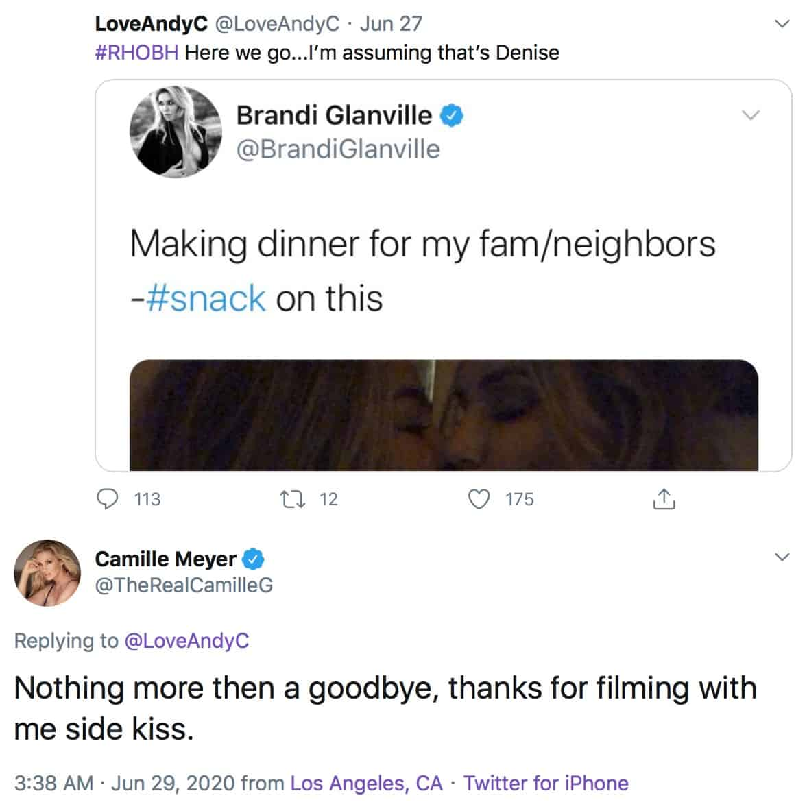 RHOBH Camille Grammer Suggests Brandi Glanville and Denise Richards Kiss Was Not Serious