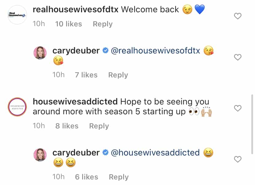 Cary Deuber Reacts to Rumors of a RHOD Return
