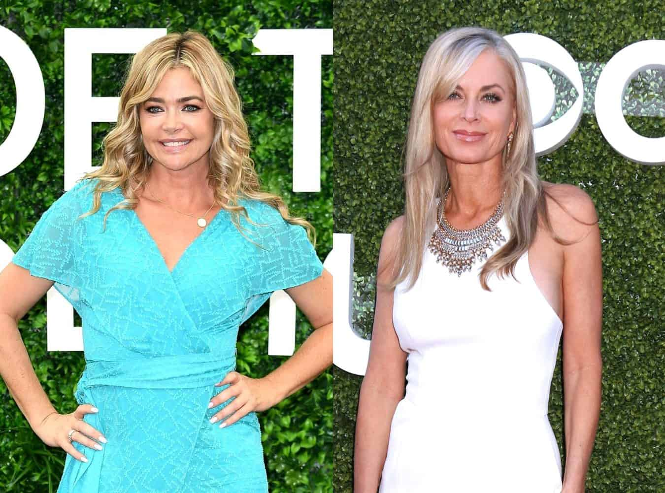 "RHOBH's Denise Richards Claps Back at Eileen Davidson's Revelation Regarding Cast Tension at Her Husband's Premiere, Explains Why She Was ""So Nervous"" and ""So Sick"""