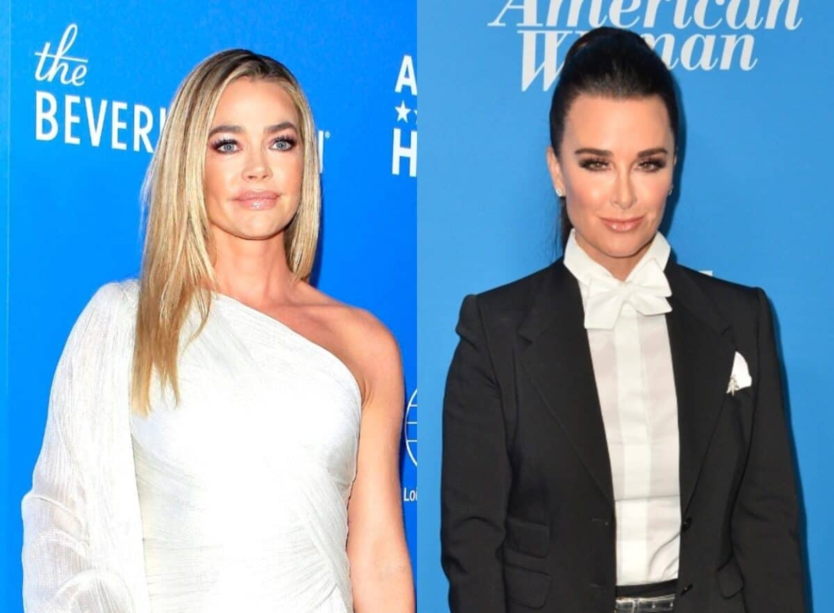"RHOBH Star Denise Richards Seemingly Shades Kyle Richards by Reacting to Shady Photo Comparison, Who is the Real ""Ragamuffin?"""