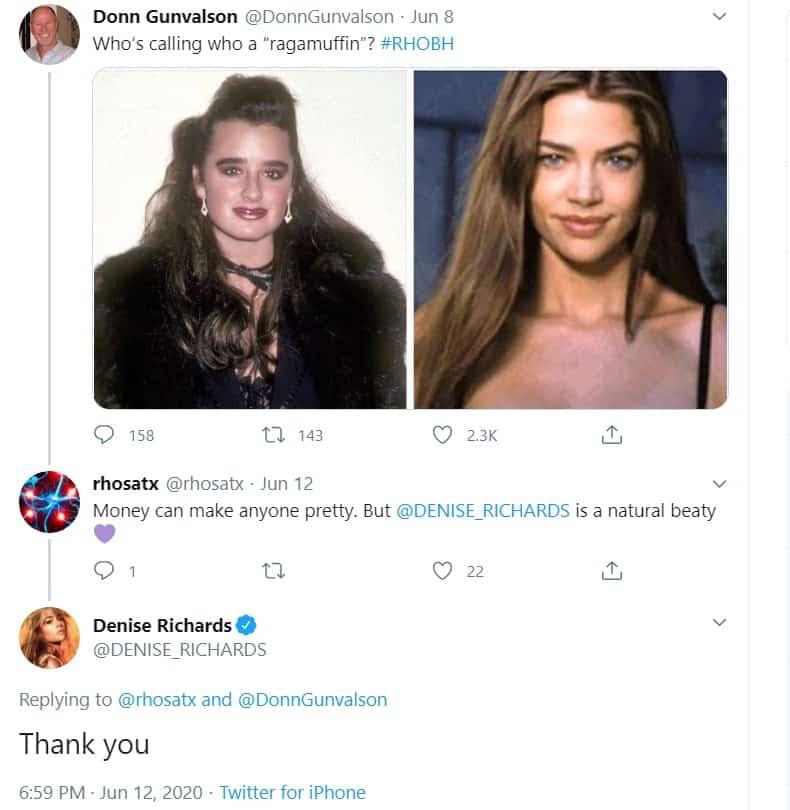 Denise Richards seemingly shades Kyle Richards appearance