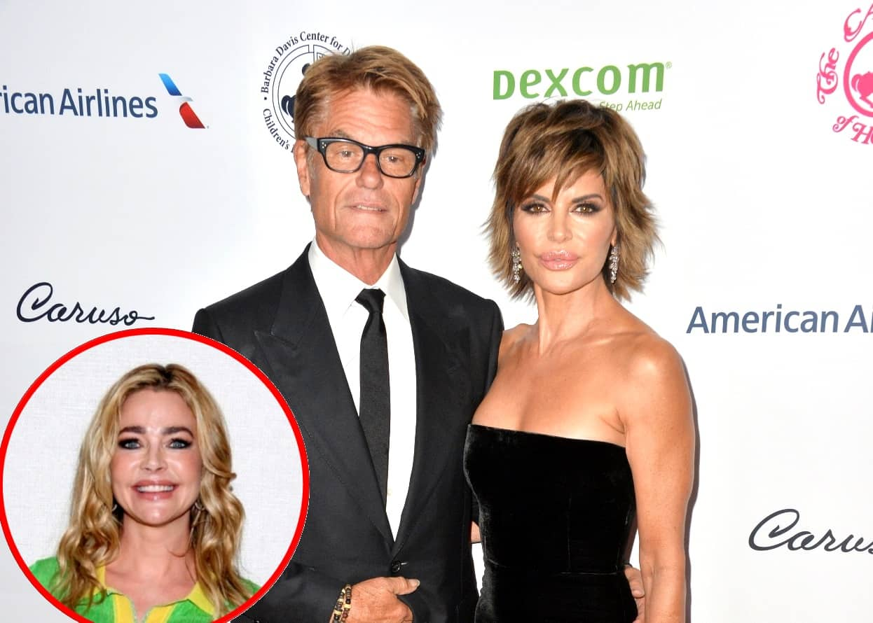"Lisa Rinna Defends Husband Harry Hamlin Against Online Trolls, Plus Why She Thinks Denise Richards Will ""Walk Away"" From RHOBH"