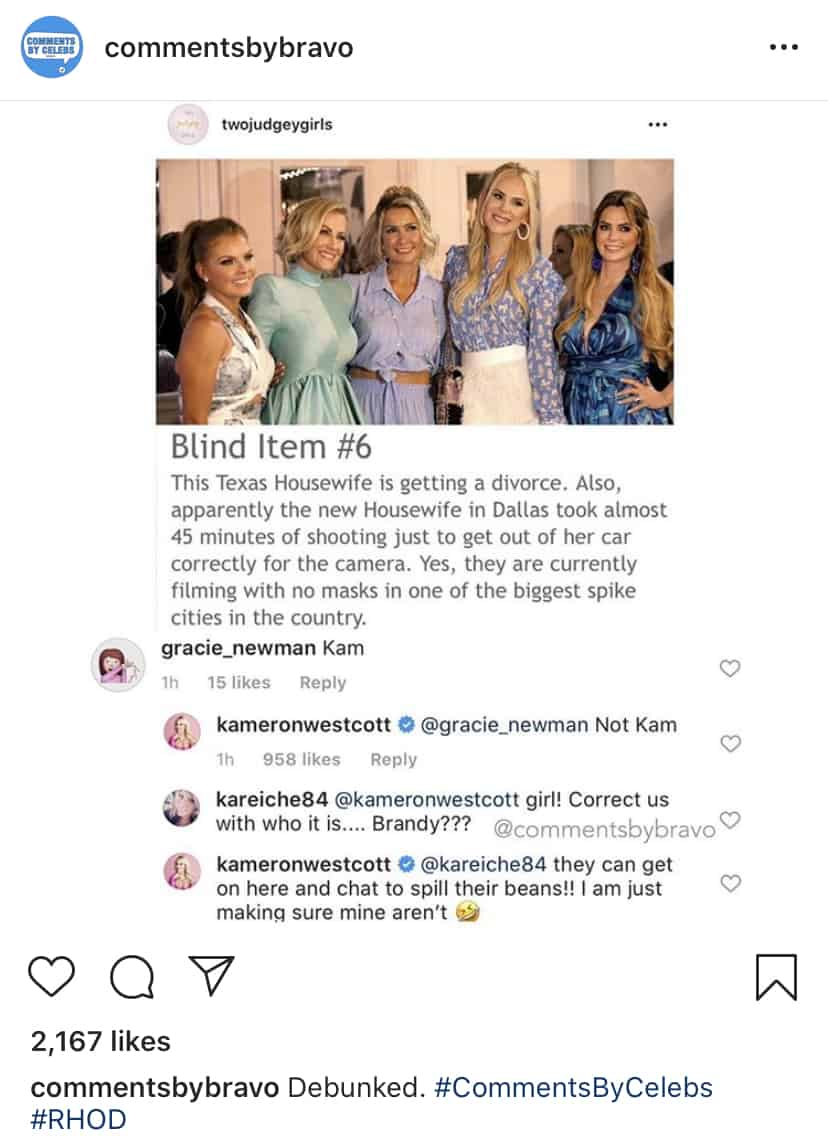 RHOD Kameron Westcott Shuts Down Divorce Rumors