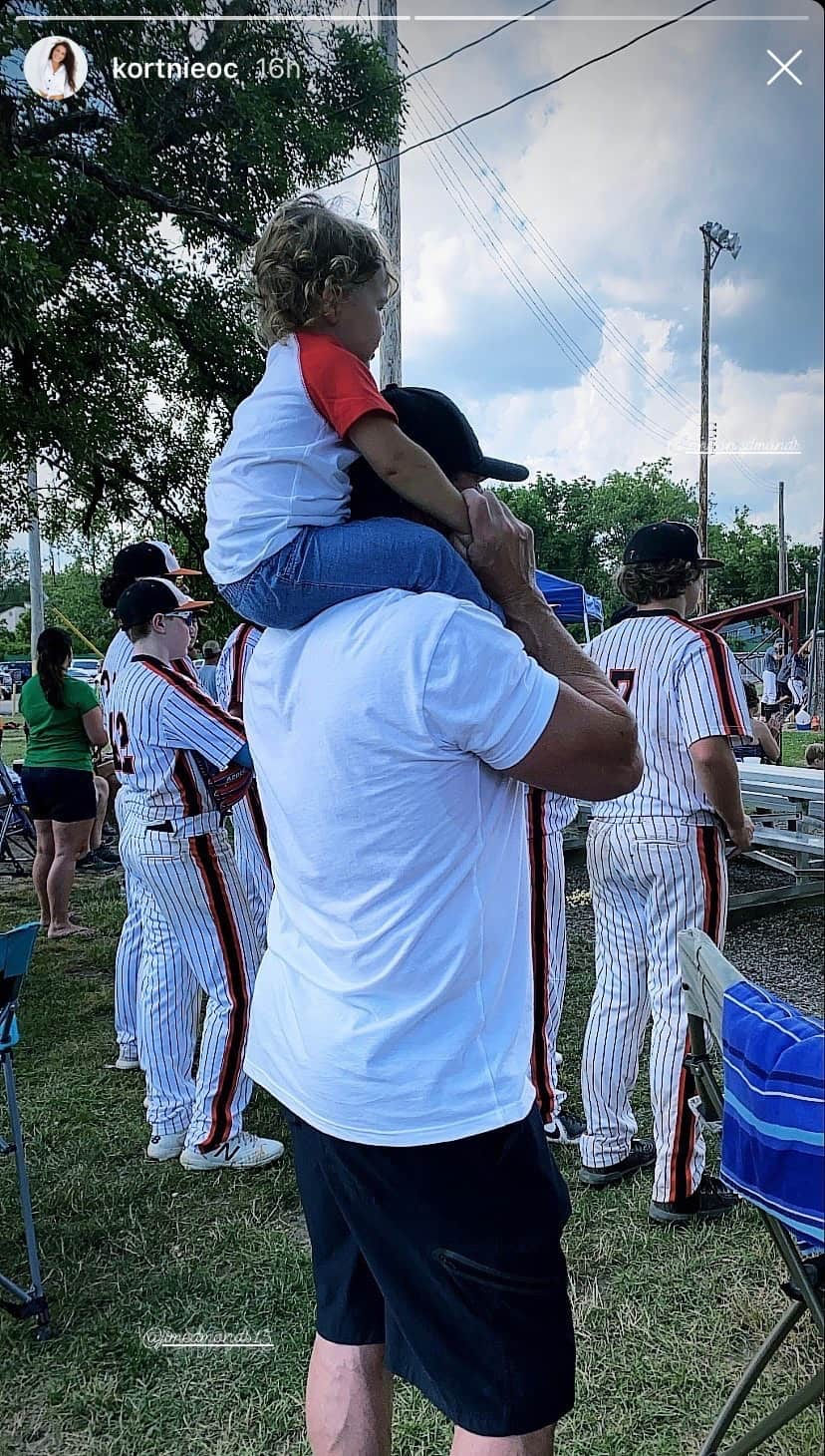 Kortnie O'Connor Shares Photo of Jim Edmonds and Son on Father's Day