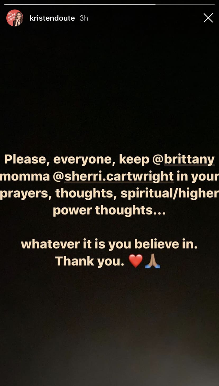 Vanderpump Rules Kristen Doute Requests Prayers for Brittany Cartwright's Mom on Instagram
