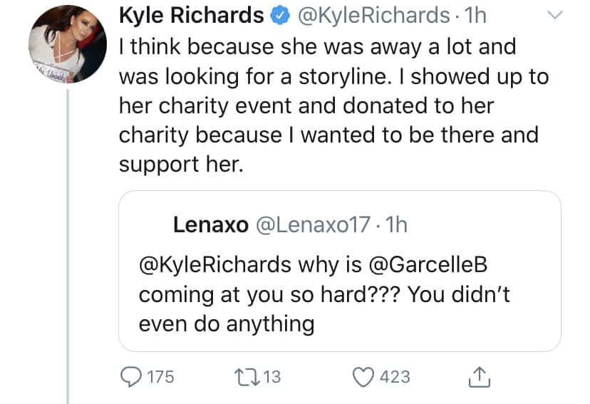 RHOBH Kyle Richards Accuses Garcelle Beauvais of Using Her for a Storyline