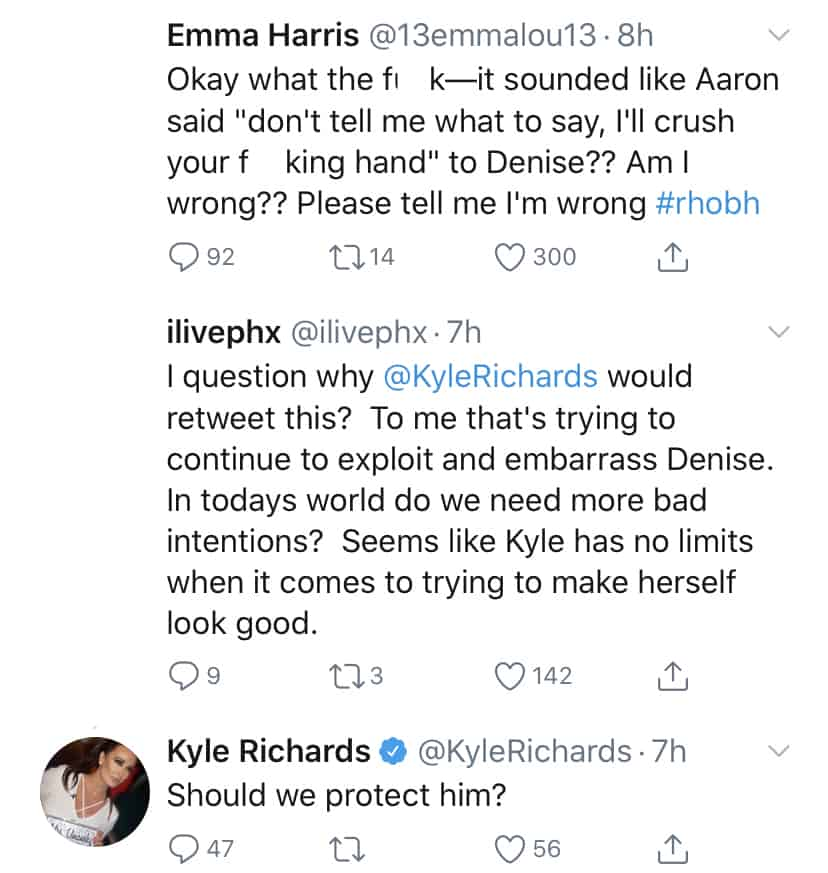 RHOBH Kyle Richards Reacts to Claims of Trying to Embarass Denise