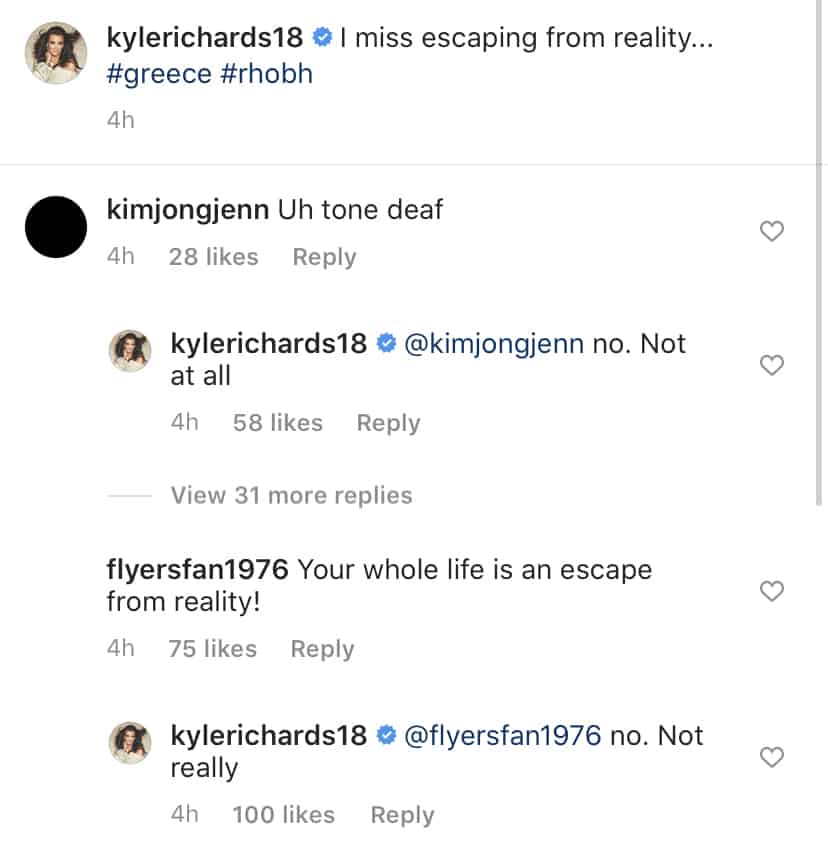 RHOBH Kyle Richards Reacts to Tone Deaf Accusation