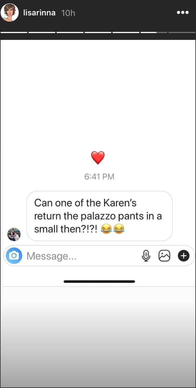 RHOBH Lisa Rinna Jokes About Karens Complaining to QVC