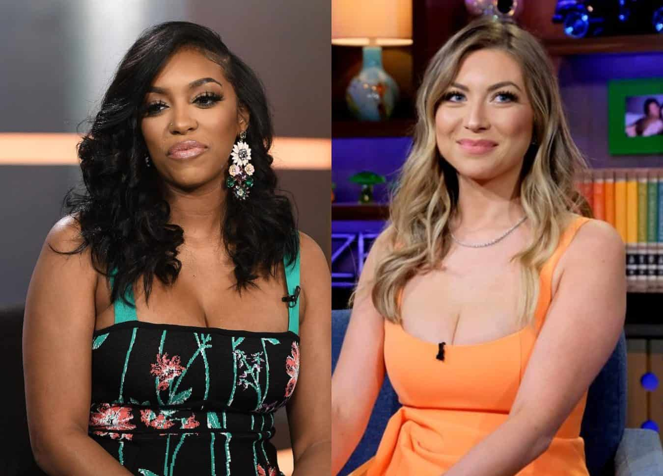 """RHOA's Porsha Williams Reacts to Stassi Schroeder's Past """"Nazi Chic"""" Photo as Vanderpump Rules Star is Dropped by Her Agency and Glamour Magazine Amid Racism Scandal"""