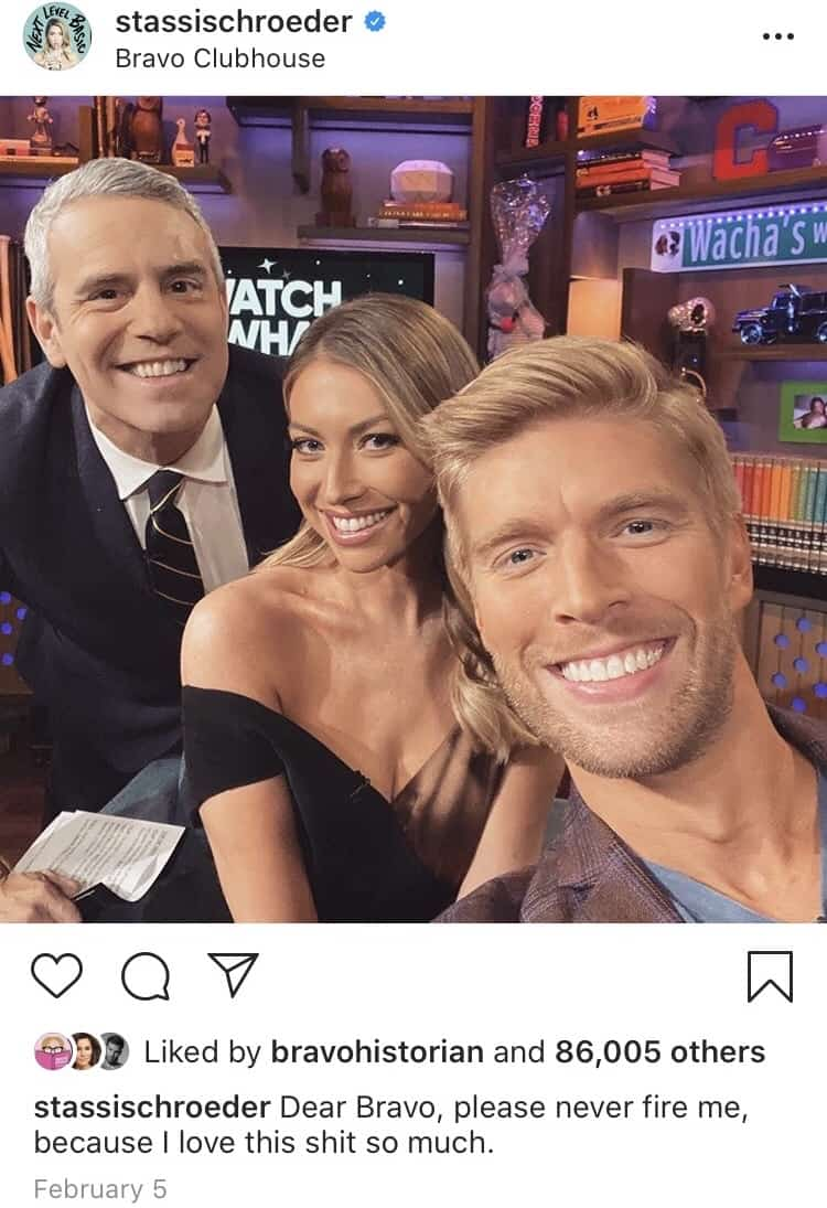 Stassi Schroeder asks Bravo to never fire her in old Instagram post