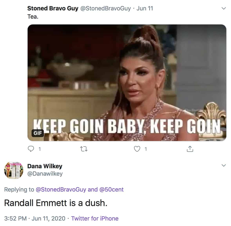 Ex-RHOBH Dana Wilkey Claims Randall Emmett is a Douche