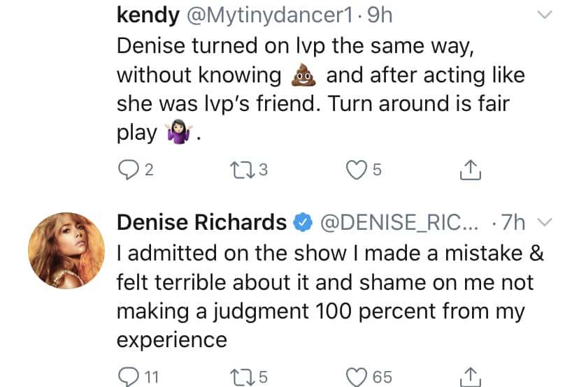 RHOBH Denise Richards Admits to Making a Mistake With Lisa Vanderpump