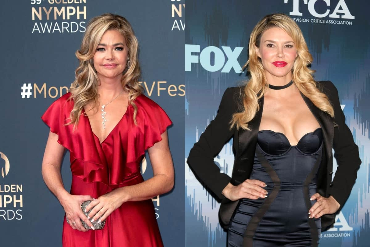 "RHOBH's Denise Richards Reveals What Brandi Glanville Lied About on Show, Suggests She Was Attacked by Cast Mates Because She's an ""Easy Target"" Due to Her Openness Last Season"