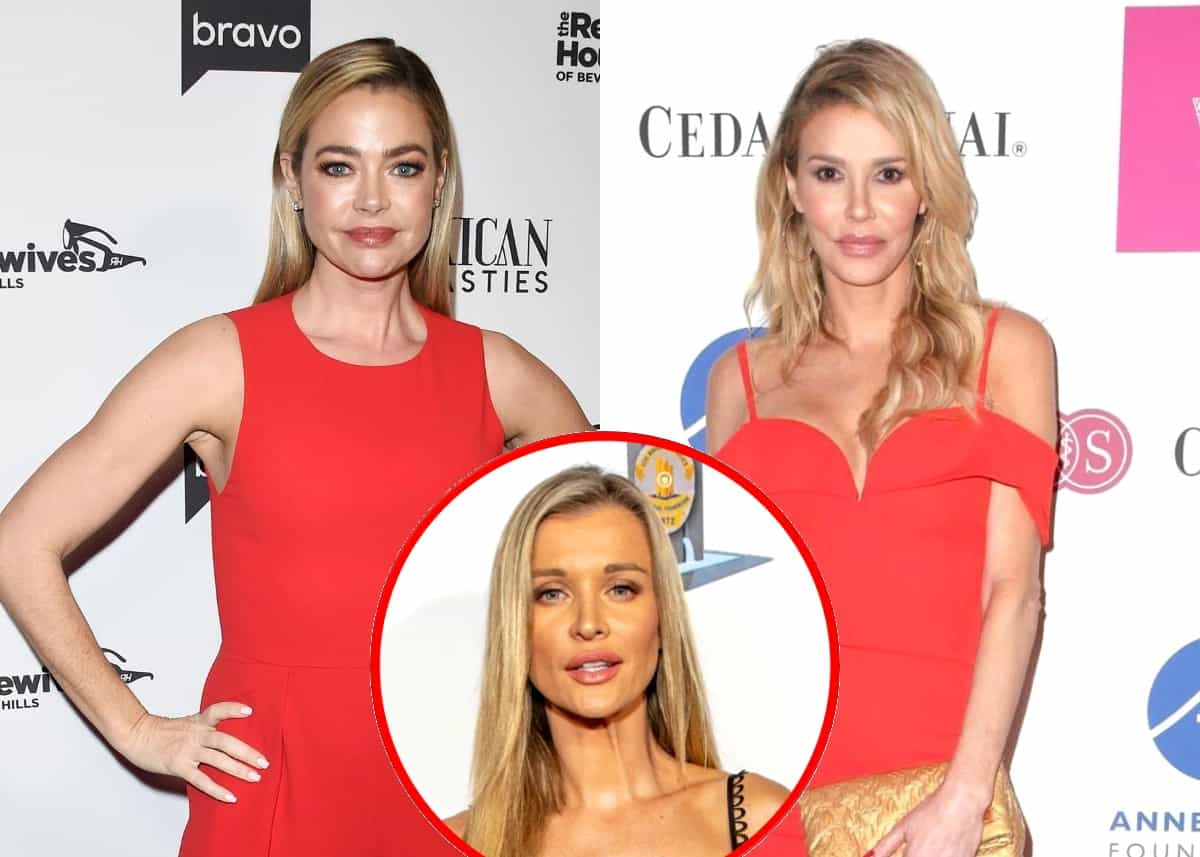 RHOBH's Denise Richards Denies Brandi Glanville's Claims of Having Tricked Her Into Bed and Reacts to Fan Who Mentions Her Decision to Skip the Finale, Plus Joanna Krupa Accuses Brandi of Jealousy