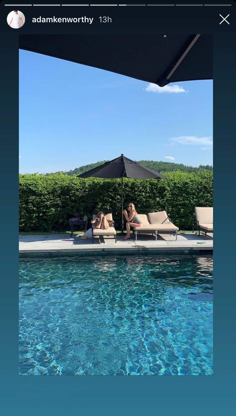 RHONY Dorinda Medley and Carole Radziwill Enjoy the Pool at Blue Stone Manor