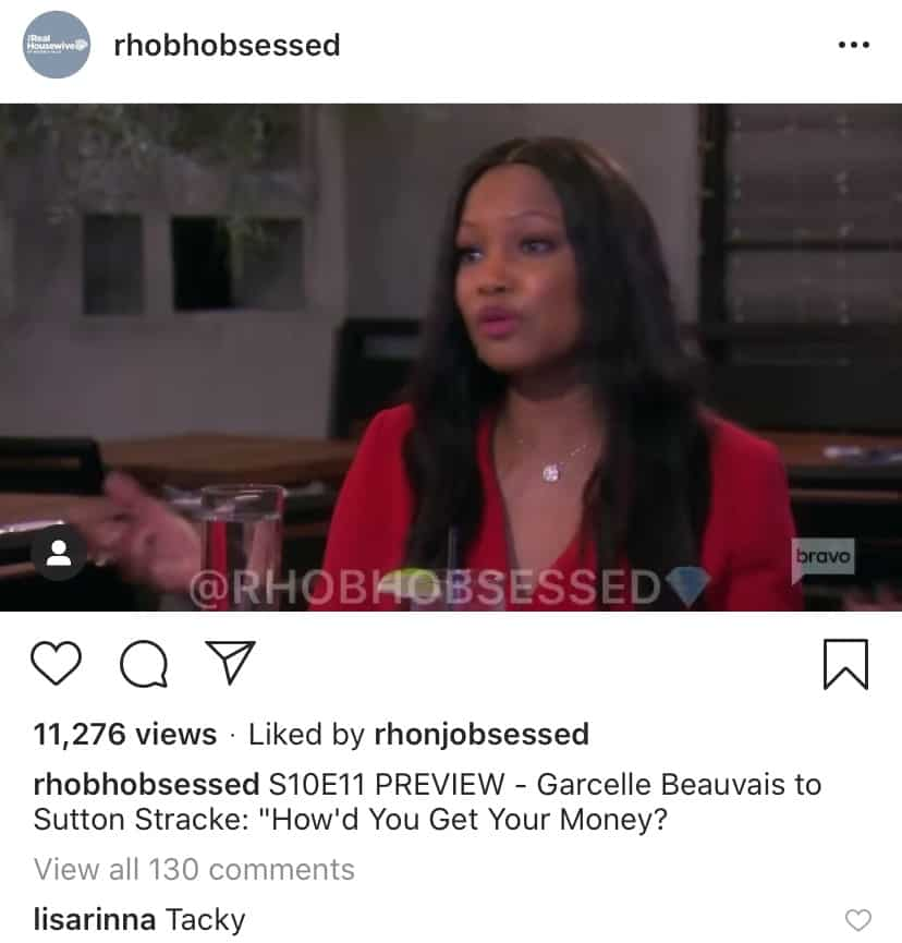 RHOBH Garcelle Beauvais Asks Sutton Stracke About Her Money