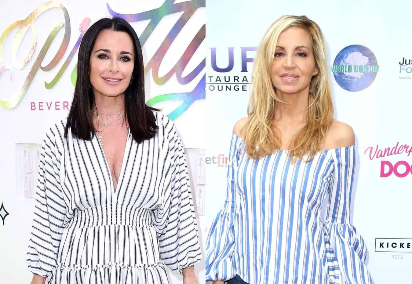 """RHOBH's Kyle Richards Confronts Camille Grammer About Mean Tweets, Accuses Her of """"Annihilating"""" the Cast and Explains Why She Can't Trust Her as Camille Blasts Co-Stars as """"Witches"""" for Attacking Her During Season 9 Reunion"""