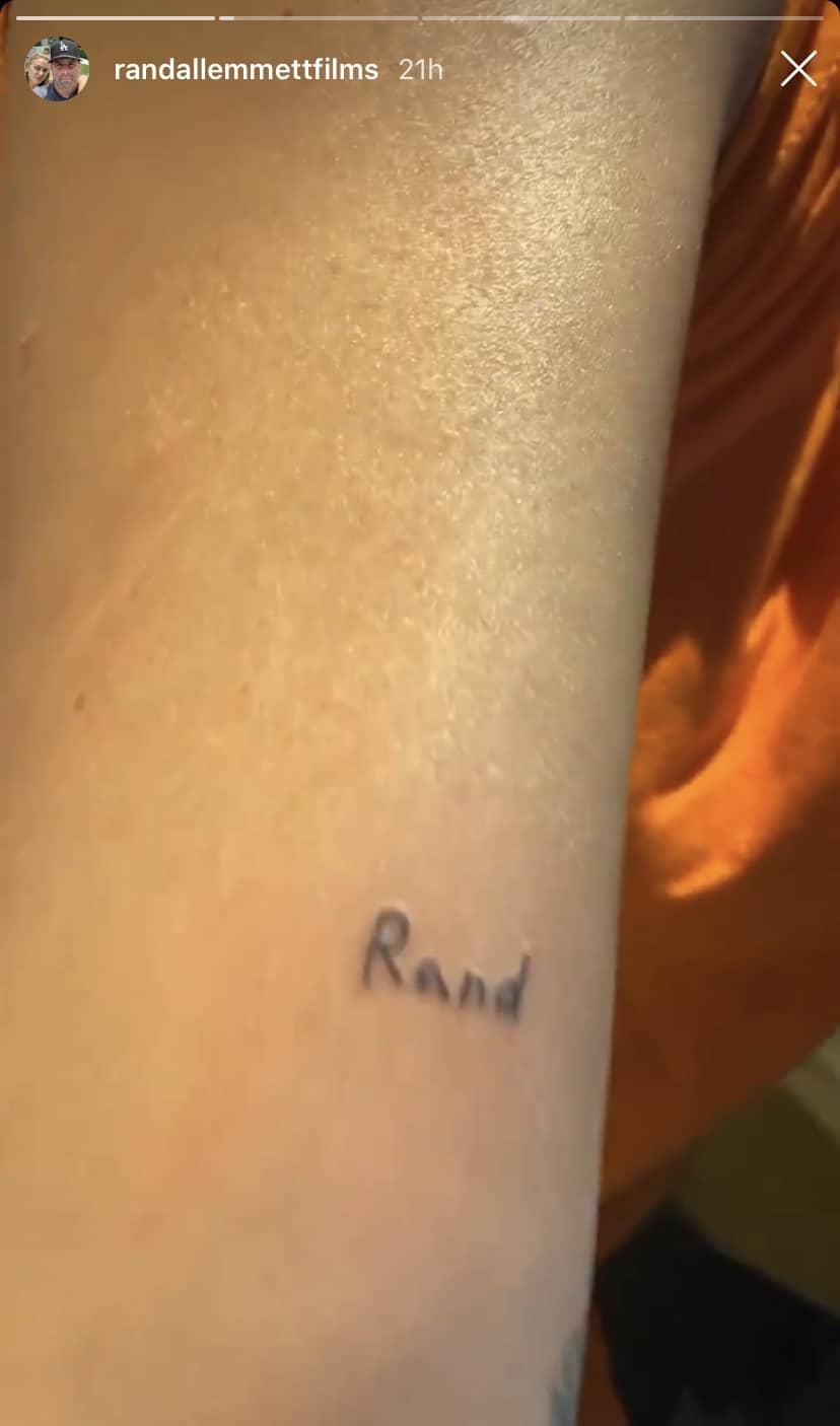 Vanderpump Rules Lala Kent Debuts Rand Tattoo on Randall Emmett's Instagram Stories