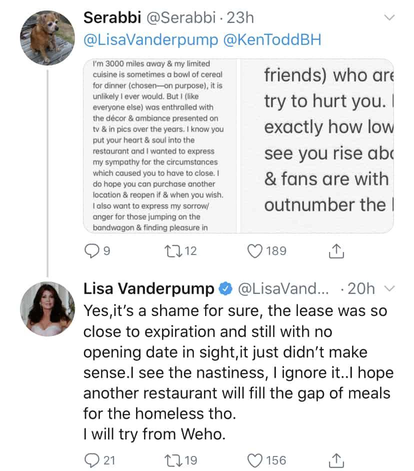 RHOBH Lisa Vanderpump Explains Not Renewing Villa Blanca Lease