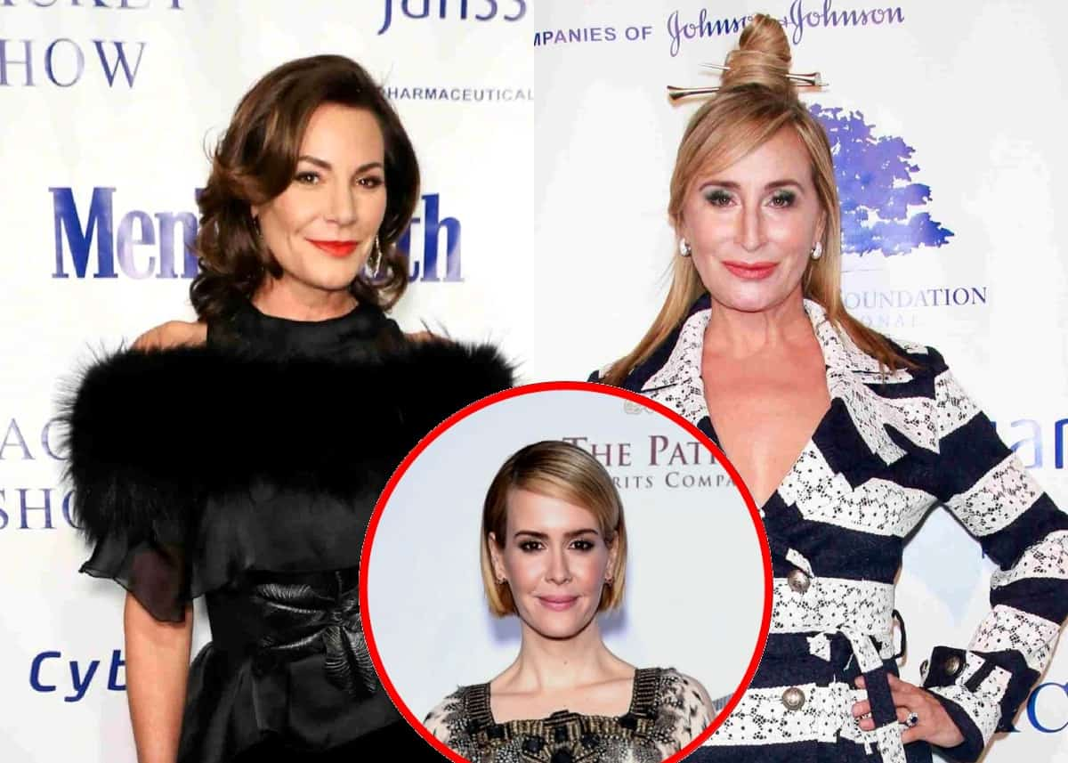 """RHONY's Luann de Lesseps Responds to 'Not Paying' Sonja Morgan for Cabaret Show as Sarah Paulson Shades Luann: """"Some People Are Coming There to See Sonja"""""""