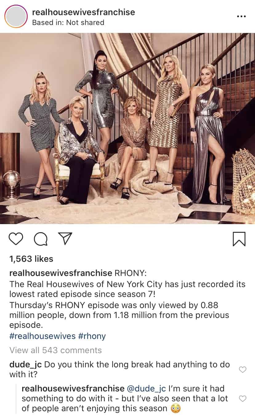 RHONY Ratings on Season 12 Drop After Hiatus