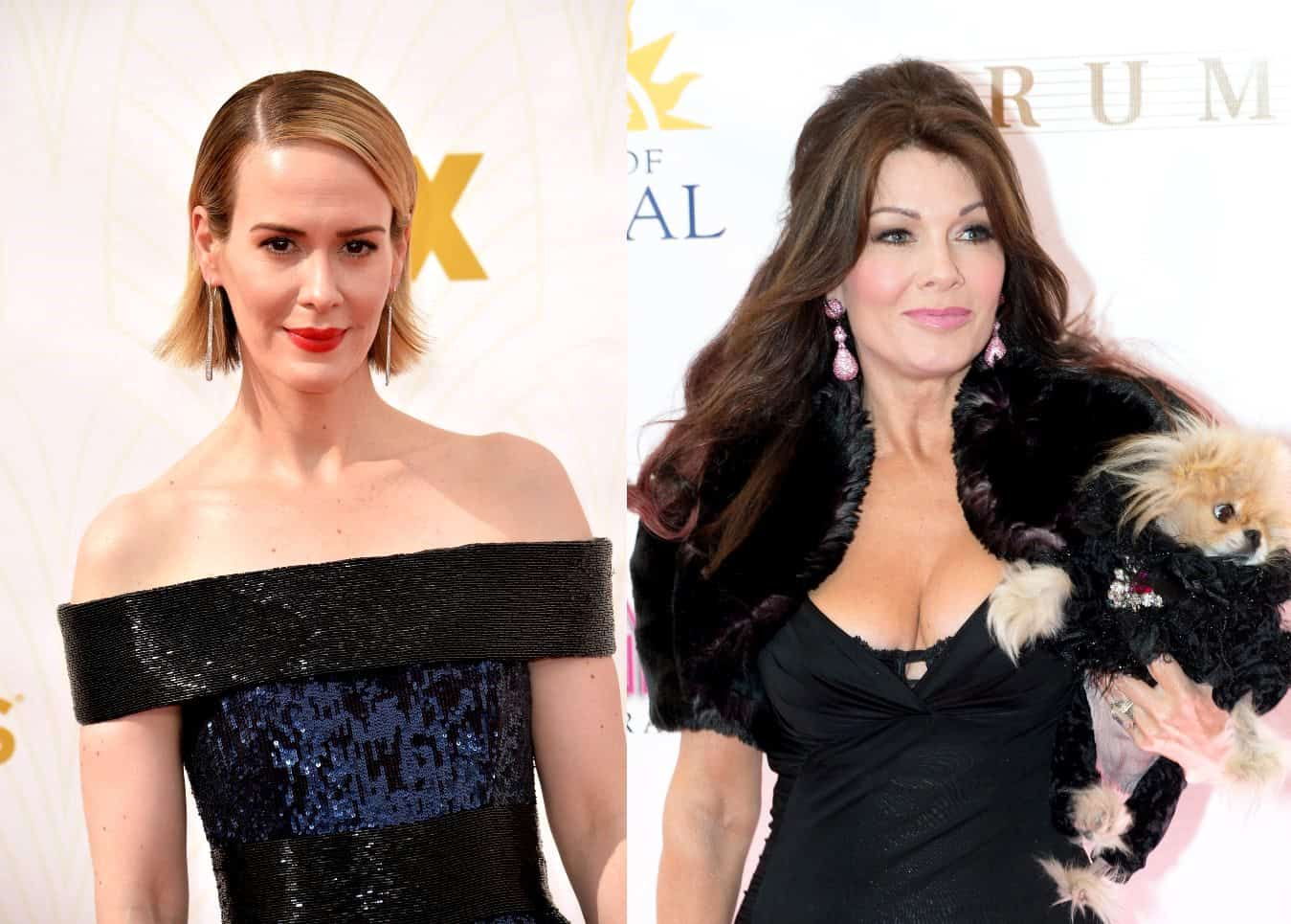 """Sarah Paulson Mocks Lisa Vanderpump's Social Media Fans, Doubles Down on Claims That Ex-RHOBH Star Wasn't """"Nice"""" to Her During Encounter, Admits Lisa Didn't Know Who She Was"""