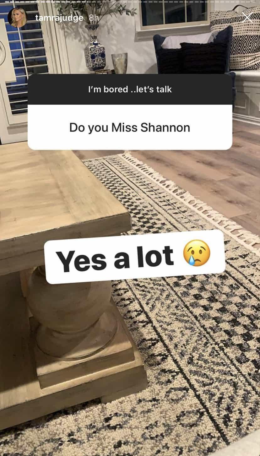 RHOC Tamra Judge Misses Shannon Beador a Lot