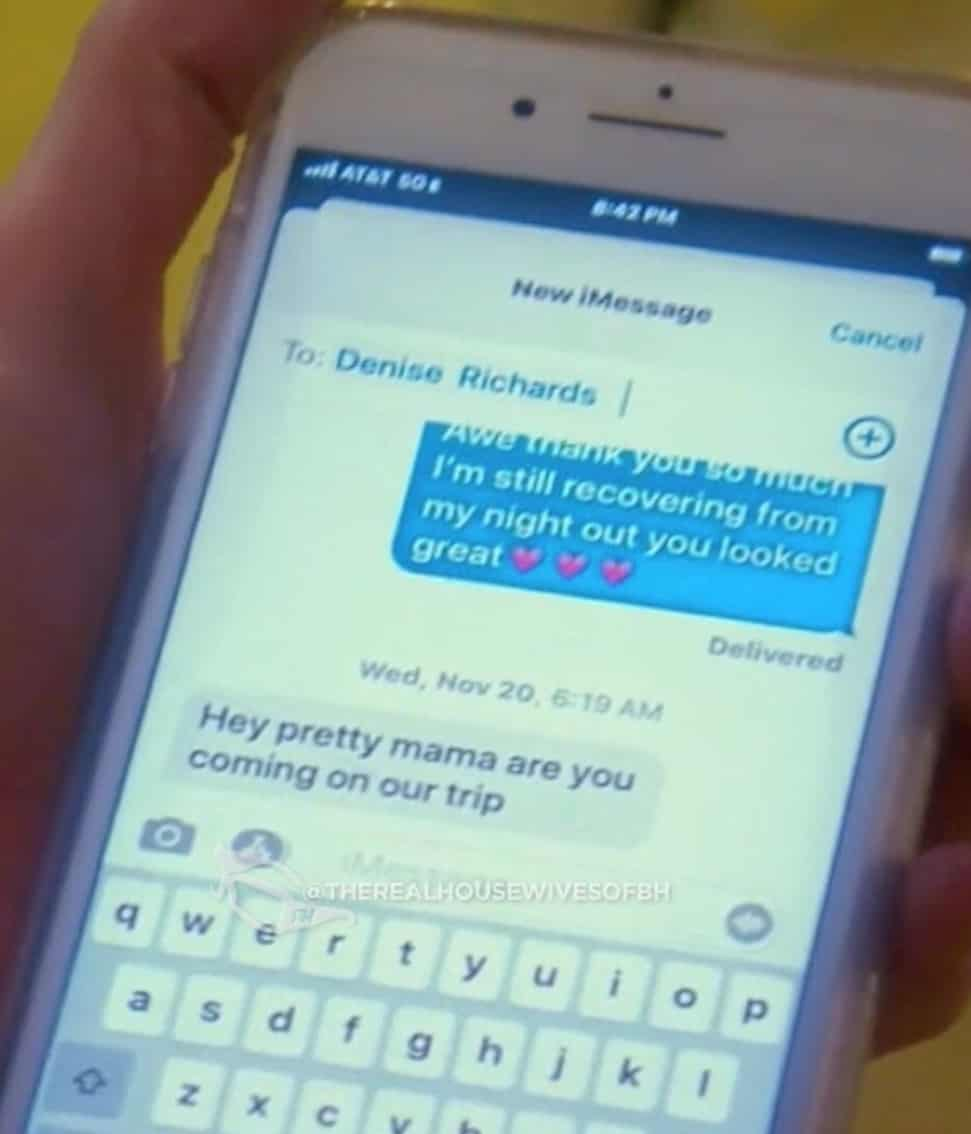 RHOBH Brandi Glanville Shares Text Message From Denise Richards