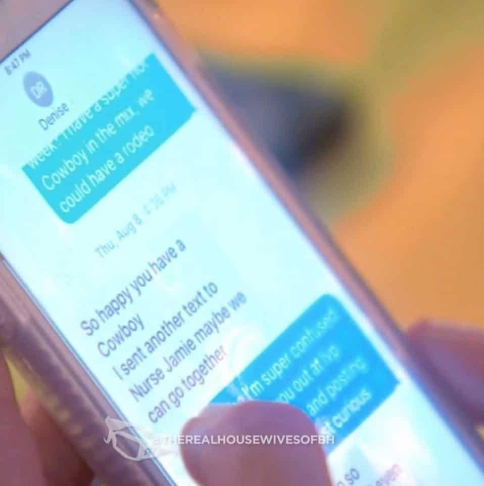 RHOBH Brandi Glanville Texts Denise Richards About Lisa Vanderpump