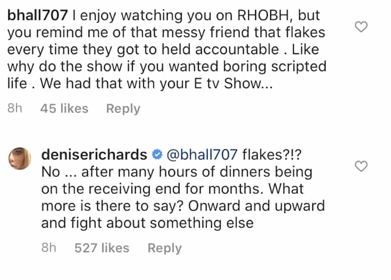 RHOBH Denise Richards Responds to Claims of Being a Fake After Being Called Out
