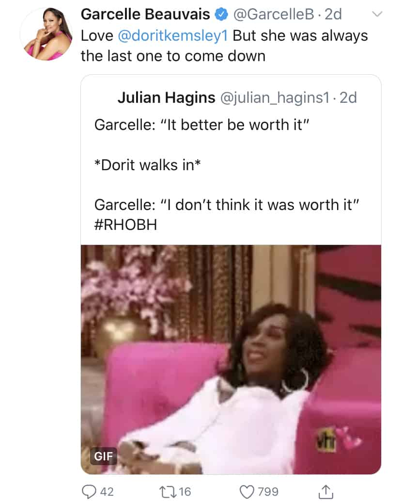 RHOBH Garcelle Beauvais Responds to Dorit Kemsley Being Late
