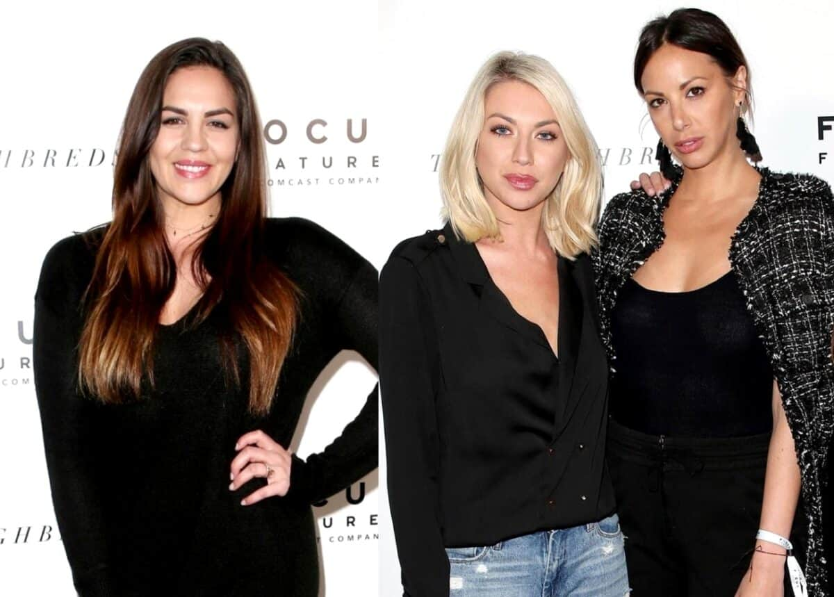 """Vanderpump Rules' Katie Maloney Admits She Was """"Shocked"""" by Stassi Schroeder and Kristen Doute's Firings and Recalls the Moment She and Kristen Reconciled Their Friendship, Plus Dishes on Recent Cast Getaway and a Potential TomTom Spinoff"""