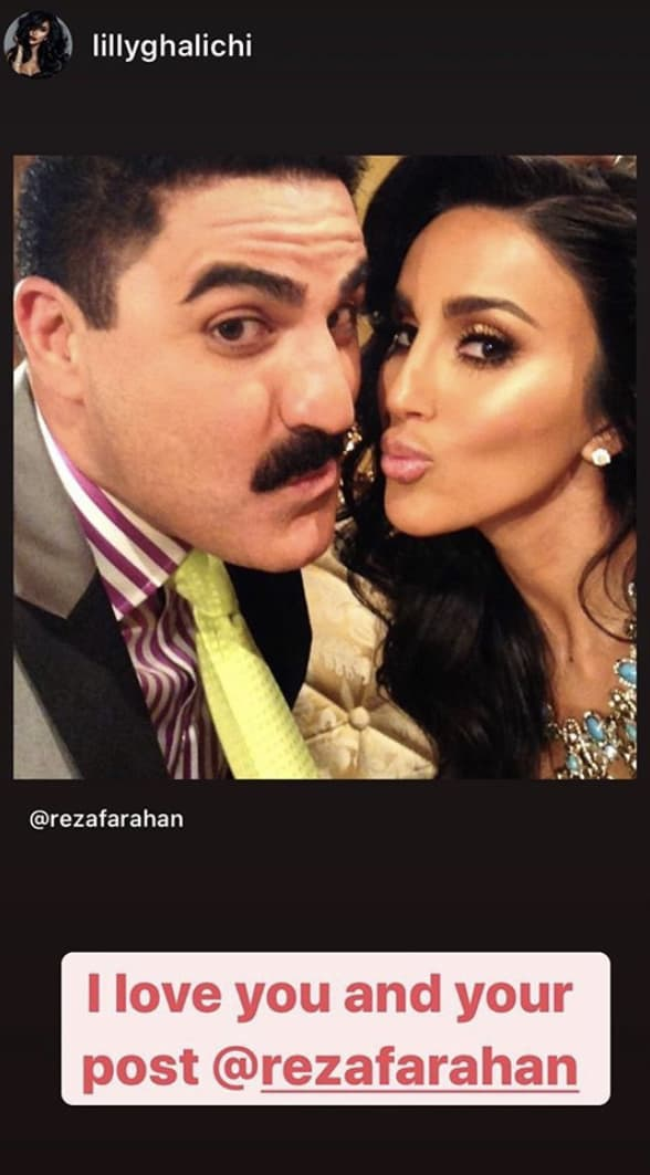 Shahs of Sunset Lilly Ghalichi Reacts to Reza Farahan's Post-Divorce Instagram Message