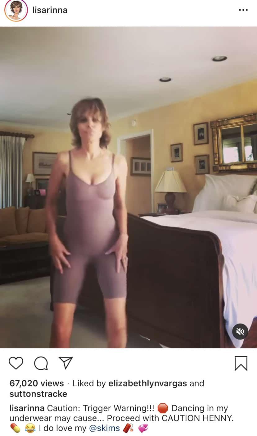 RHOBH Lisa Rinna Shares Instagram Video of Herself Dancing in Skims