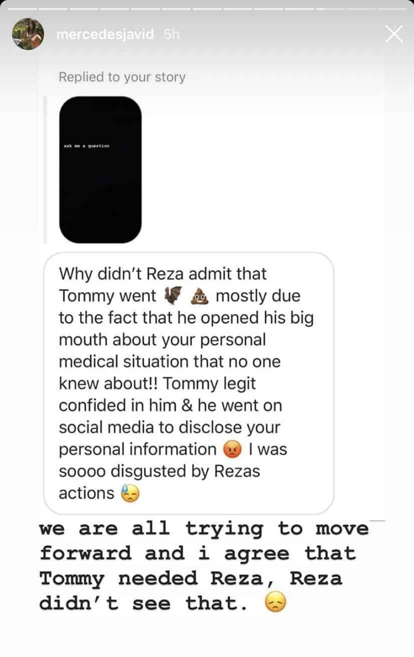 Shahs of Sunset Mercedes MJ Javid is Trying to Move Forward With Reza Farahan
