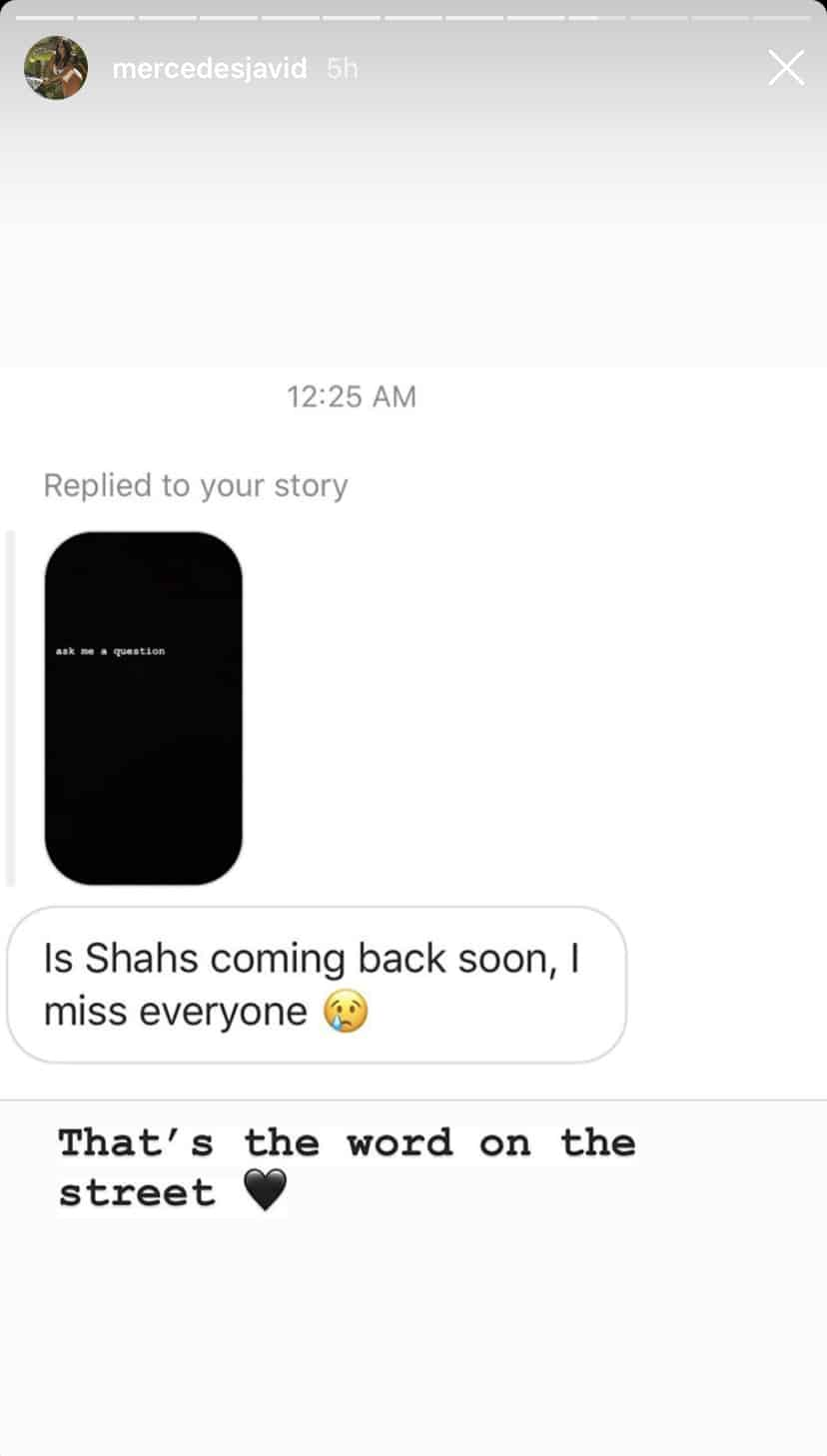 Mercedes MJ Javid on If Shahs of Sunset Will Return for a New Season