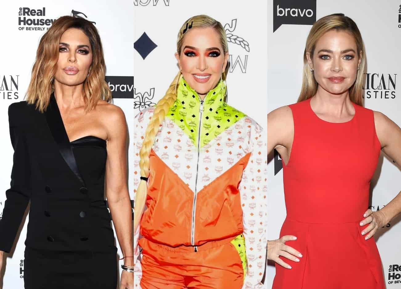 "RHOBH's Lisa Rinna and Erika Jayne Reportedly Went After Denise Richards at the Reunion, Find Out Who Came for Her the ""Most"" as Denise ""Held Her Ground"" and Garcelle Beauvais Spent Time in the ""Hot Seat"""