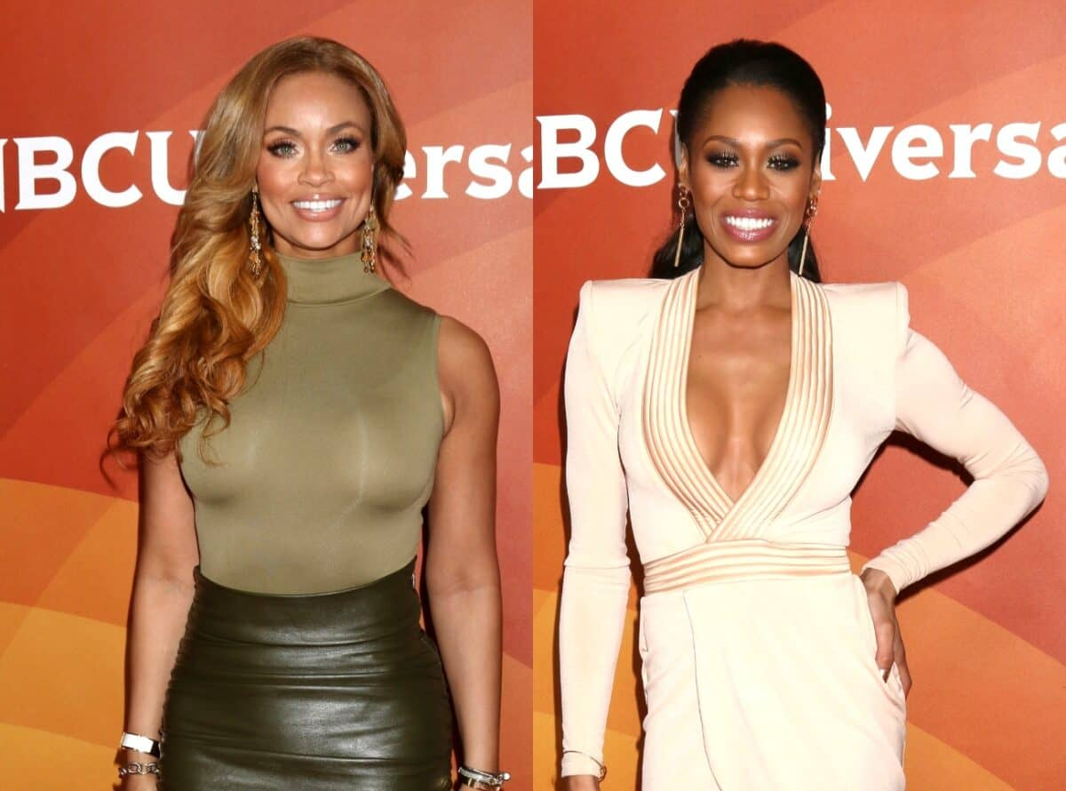 """RHOP Star Gizelle Bryant Says She Was """"Embarrassed"""" For Monique Samuels Because Her New Song 'Glorifies Violence' as Monique Fires Back on Twitter, Calling Out """"Those Who Are Illiterate"""""""
