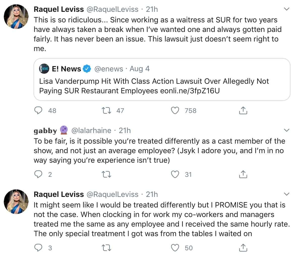 Vanderpump Rules Raquel Leviss Defends Lisa Vanderpump Amid SUR Lawsuit Drama