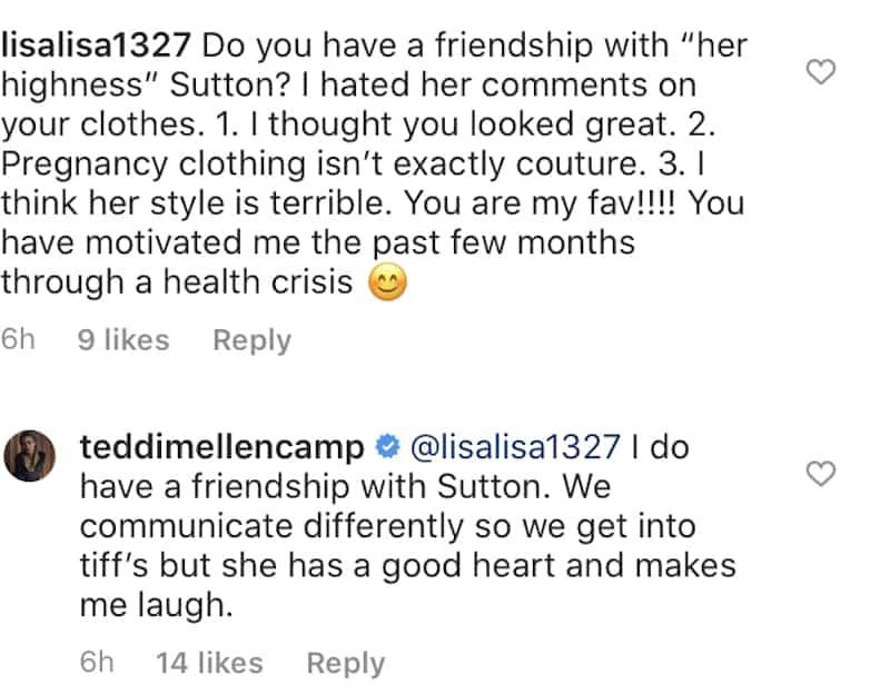 RHOBH Teddi Mellencamp Confirms She Has a Friendship With Sutton Stracke